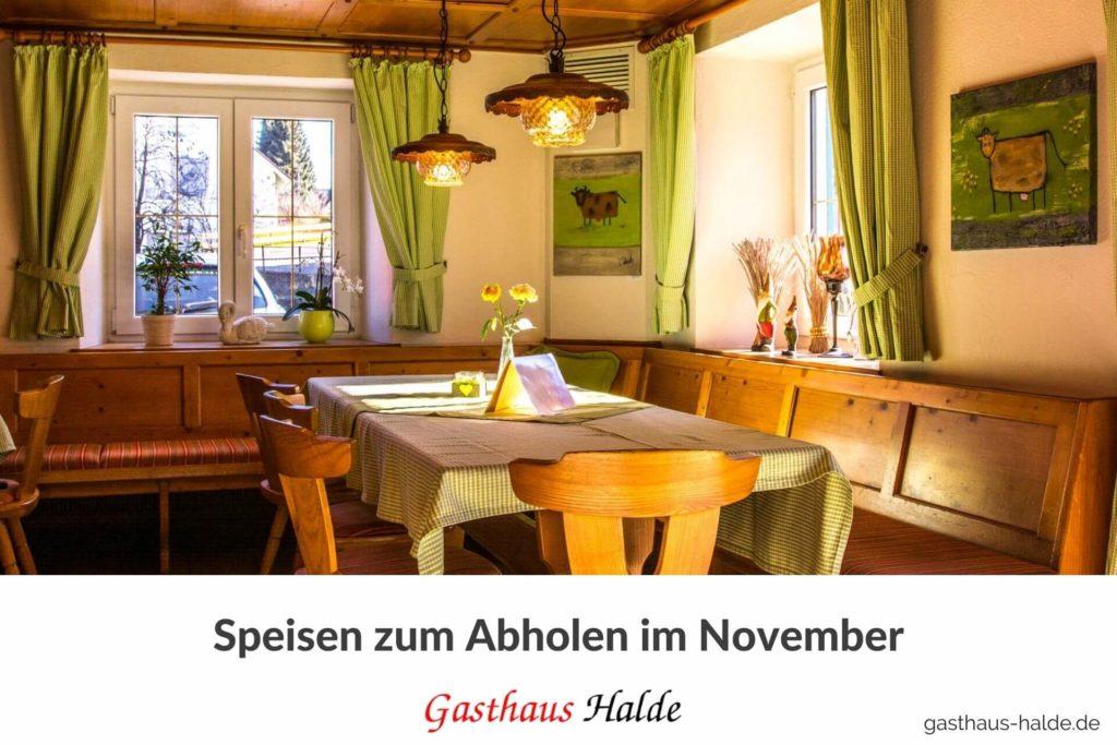 Speisezimmer Gasthaus Halde